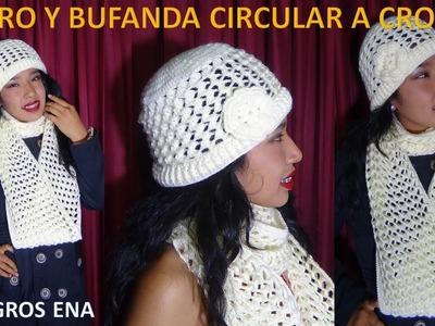 Gorro a Crochet en punto 3D PANAL O NIDO DE ABEJA PARA ZURDOS paso a paso en Video tutorial