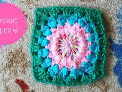 Granny square crochet | Cuadrado a ganchillo fácil
