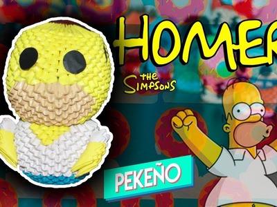 Homero SImpson 3D Origami | Pekeño ♥