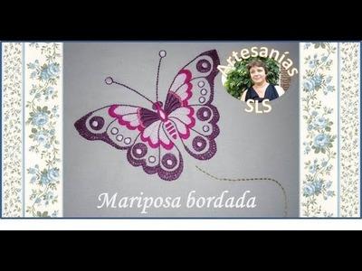 Mariposa bordada a mano ♥ Parte 2.2 ♥