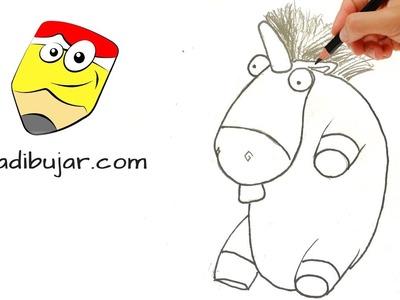 Mi villano favorito 3: Cómo dibujar el Unicornio de peluche de Agnes, la hija de Gru