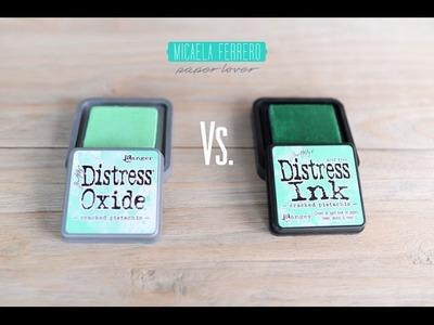 Tintas Distress Oxide vs Distress Inks