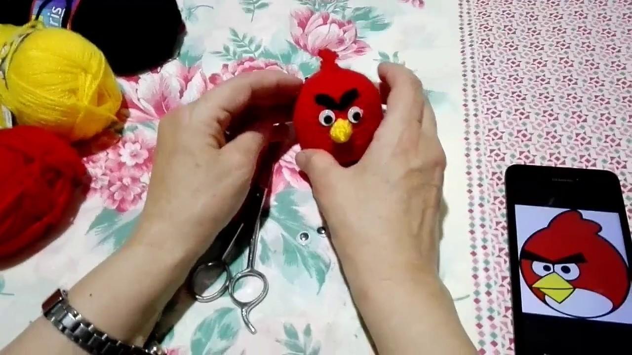 Angry Bird rojo en tejido crochet | 720x1280