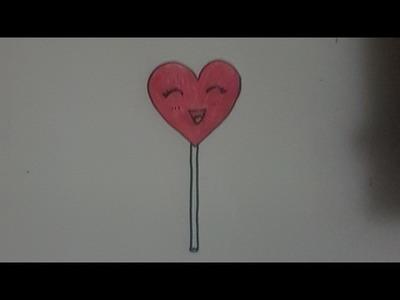 Tutorial como dibujar una piruleta mona paso a paso para niños