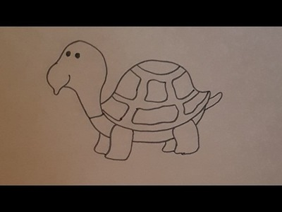Tutorial como dibujar una tortuga para niños paso a paso HD
