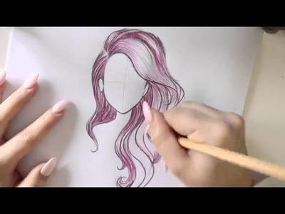 -Tutorial de Dibujo. Como Dibujar un Moño Pelirrojo ✎