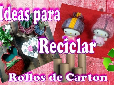 4 Ideas Faciles para reciclar ♻ rollos de carton