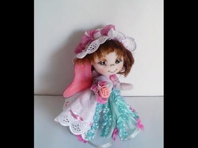 5.Muñeca de tela estilo soft.Hand-made dolls.Кукла из ткани чулочная техника