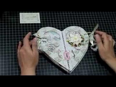 Álbum Corazón de Scrapbooking Dayka Trade