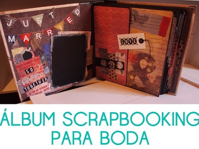 Álbum y caja de scrapbooking como regalo de boda