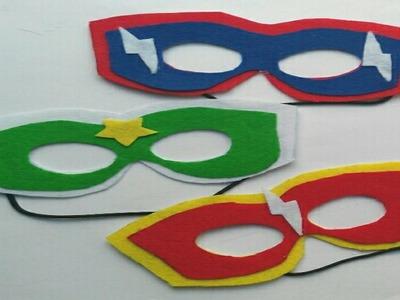 Antifaz o mascara de superheroes  para carnavales o fiesta infantil manolidades