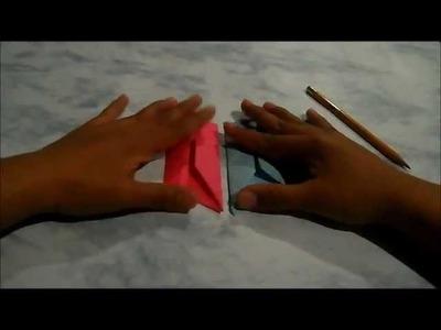 Armado y ensamble del tetraedro de papel