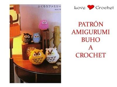 BUHO AMIGURUMI a crochet patrón gratis