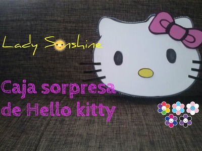 Caja sorpresa en cartón corrugado de Hello Kitty