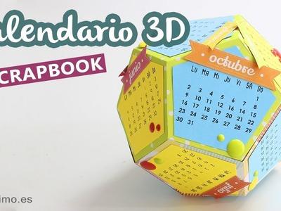 Calendario 3D scrapbooking (plantillas para imprimir)
