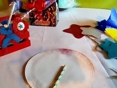 """Centro de mesa tematica,capitán América""""(tutorial)"""