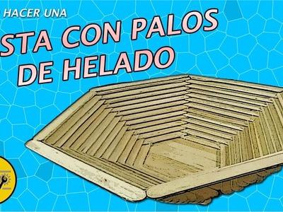 CESTA DE PALOS DE HELADO