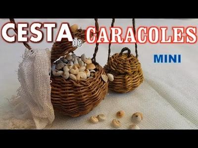 Cesta para caracoles (caracolera) en miniatura