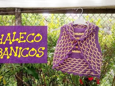 CHALECO ABANICOS - NIÑA 3 AÑOS.
