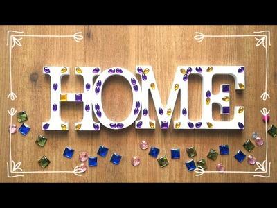 Cómo decorar letras de madera con efecto mosaico DIY
