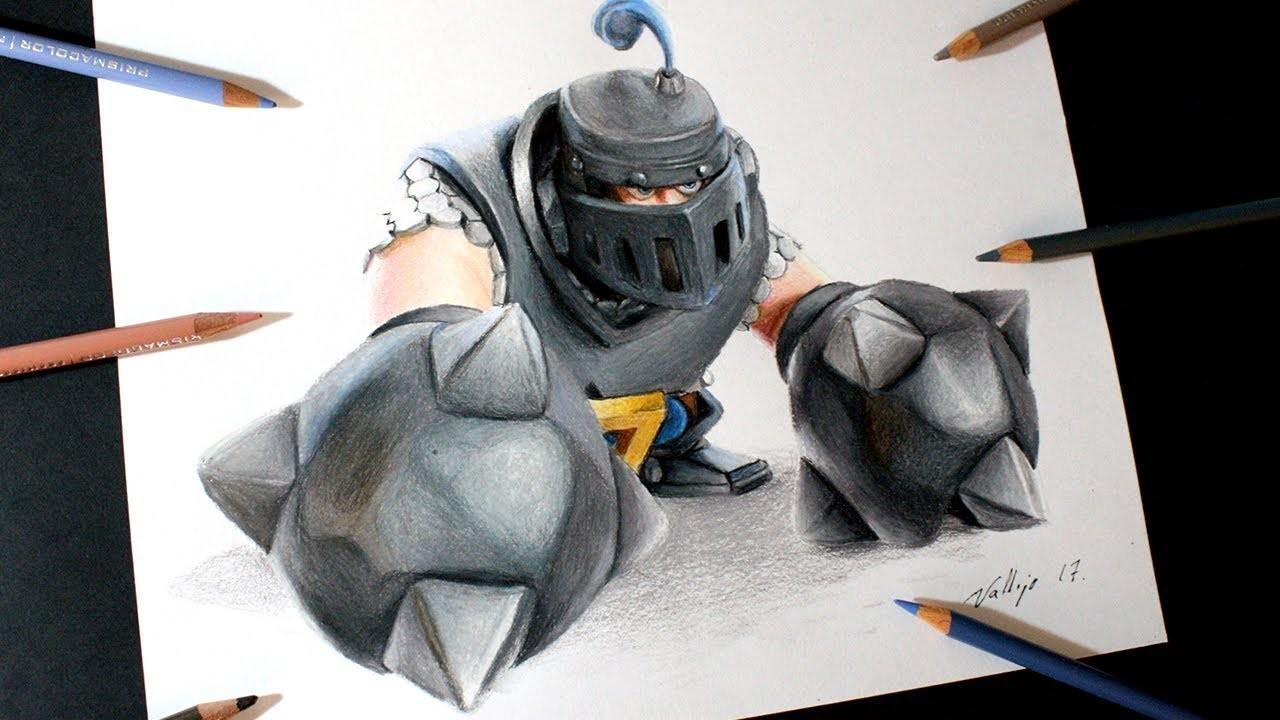 Como Dibujo Al Megacaballero De Clash Royale How To Draw Mega Knight