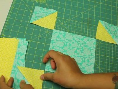 Como hacer cuadrado de patchwork- Abierto en la puerta del granero- Block #5