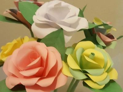 COMO HACER DIY ROSAS DE PAPEL SUPER FACILES. EASY PAPER ROSE