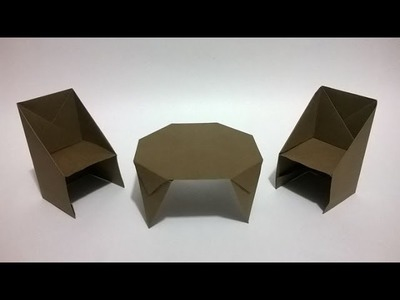 Cómo hacer sillas de papel - How to make an origami chair