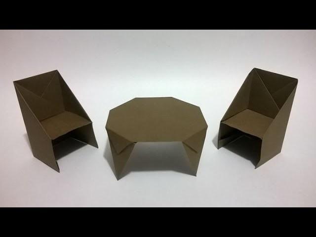 Cómo hacer sillas de papel - How to make an origami chair