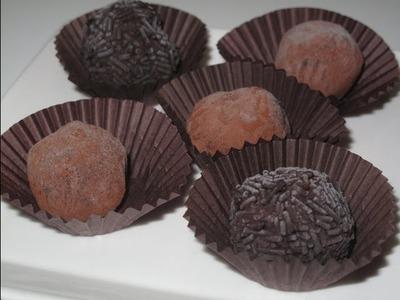 Como hacer Trufas de chocolate (deliciosas)