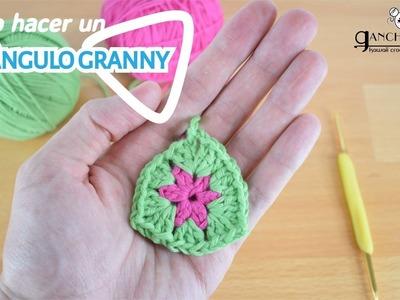 Cómo hacer un triángulo granny + Truco para empezar un granny de cualquier forma