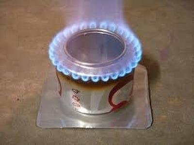 Como hacer una estufa con una lata de resfresco