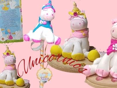 Como hacer unicornio  de foamy moldeable  baby shower