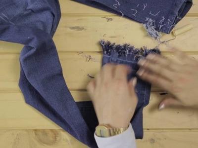 ¿Cómo hacerle flecos a tus jeans? Tutorial Falabella