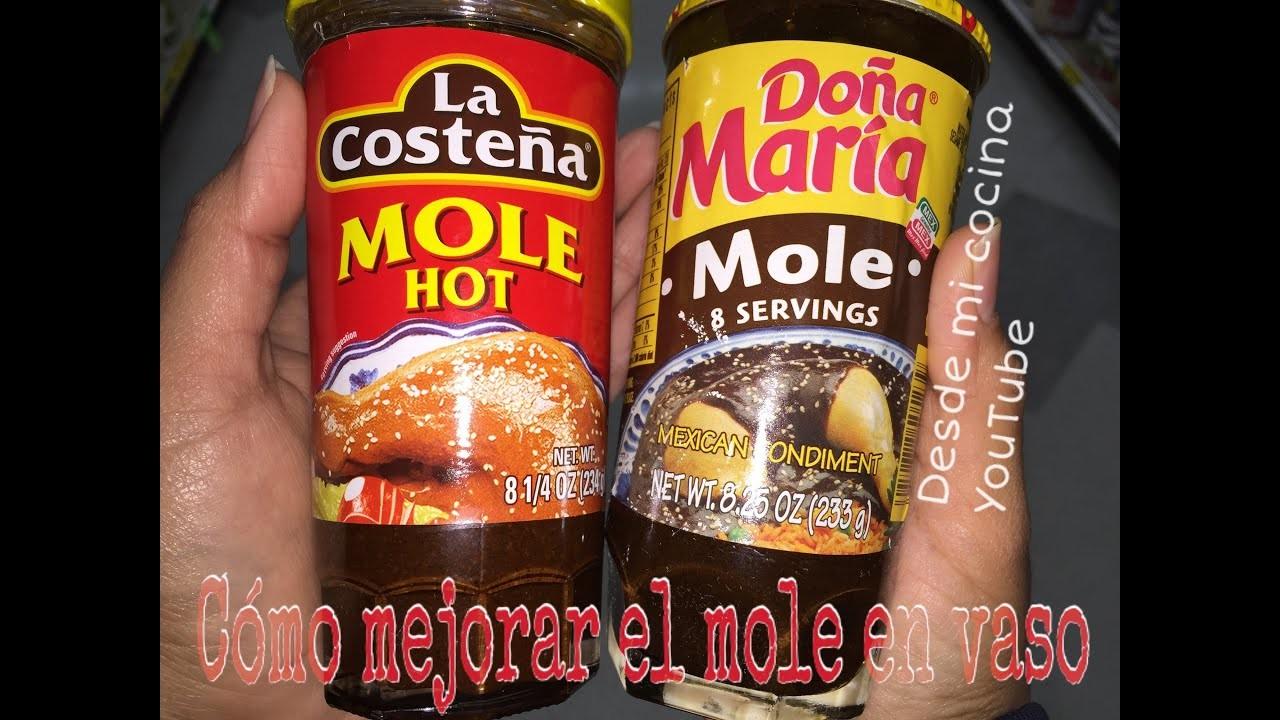 Como Mejorar el Mole en  Vaso. How to improve Canned Mexican Mole. Facil de hacer - Easy to do