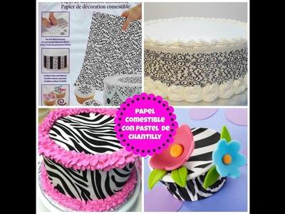 Cómo Poner Papel Comestible a un Pastel Fácil! - Madelin's Cakes