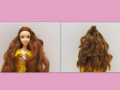 Como Rizar el Cabello de tus Muñecas * How to curl your Doll's Hair