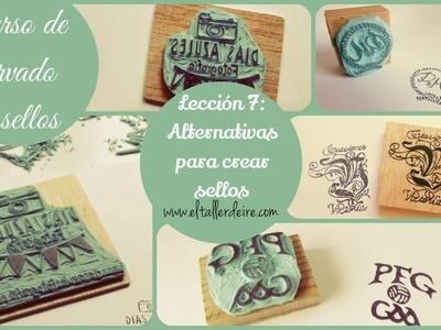 CURSO DE CARVADO DE SELLOS - LECCIÓN 7: Alternativas para carvar sellos