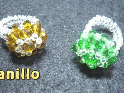 # DIY - Anillo de cristalitos color ambar# DIY - Anillo de cristal colores ambar
