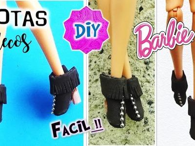 DIY ✄ Como hacer BOTAS para TUS MUÑECAS Barbie, Monster High,  Muy FACIL! MANUALIDADES para MUÑECAS