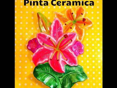 DIY pinta flores Ceramica paint ceramic