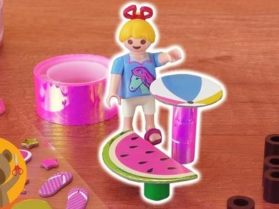 DIY Playmobil muebles para el jardín para la Familia Pérez. Haz tu propia mesa en forma de sandía