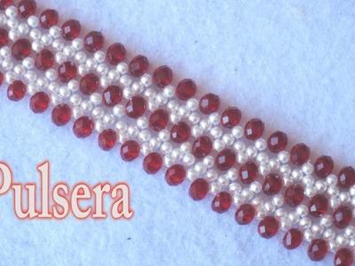 # DIY - Pulsera de perlas y rubis