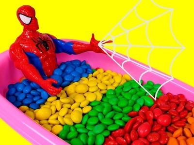 ???? LOS COLORES ???? Caramelos M&M's con Spiderman | Aprender Jugando