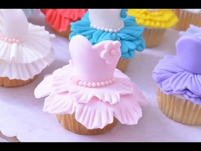 Magdalenas (cupcakes) en Trajes de Bailarinas