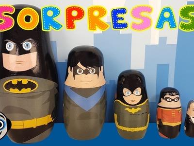 Matrioskas de Batman con Huevos Sorpresa