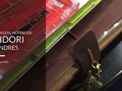 Midori o cuaderno de viaje de Londres. Travelers Notebook. Diario de Viaje. Planificador de Viaje.