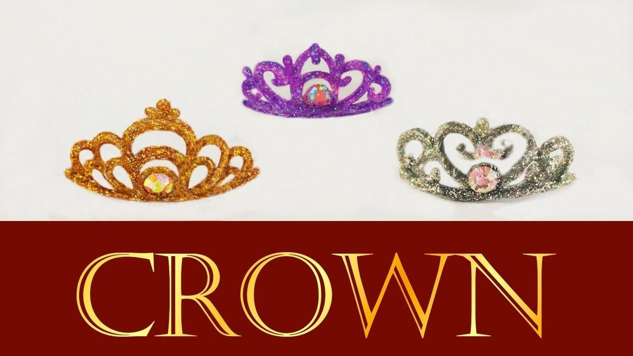 Miniature Princess Crown. Tiara. Coroa de princesa p. Barbie. Doll Tutorial