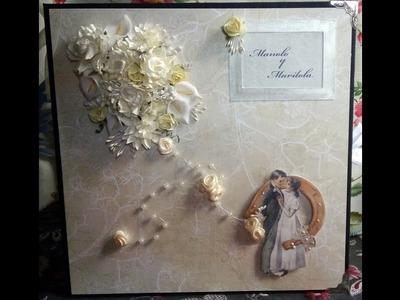 "Scrapbooking - Álbum para bodas de plata 10""X10"""