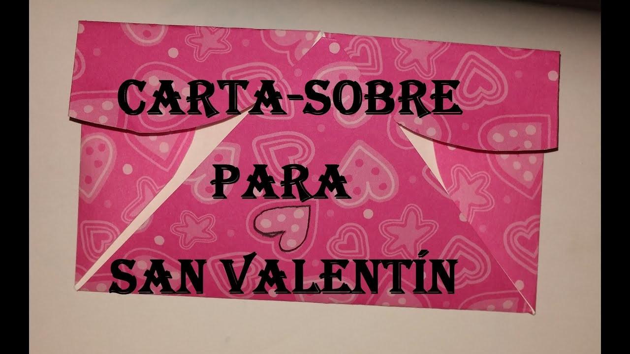 Sobre-Carta corazón para el Dia de San Valentín